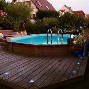 Piscine Bois Ubbink : piscine bois octogonale allong e 355x550cm azura toute ~ Mglfilm.com Idées de Décoration
