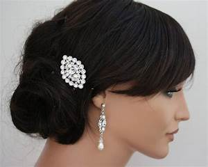 Wedding Hair Accessory Small Hair Comb Pearl And Crystal