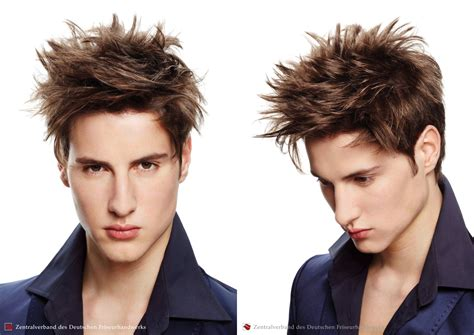 spiked hairstyle  criss cross hair styling  men