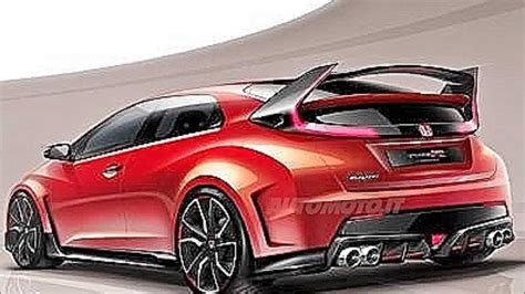 2015 Honda Civic Type R Teased In New Concept Sketch Youtube