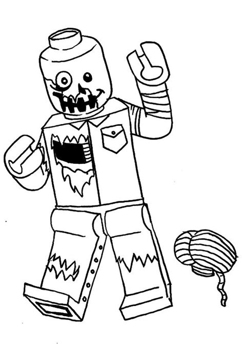 printable lego zombie coloring picture assignment sheets pictures  child parentunecom