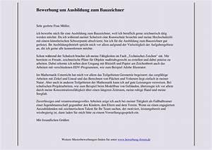 Bewerbung Zur Ausbildung : bauzeichner bewerbung um ausbildung muster und tipps ~ Eleganceandgraceweddings.com Haus und Dekorationen