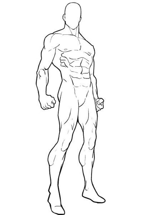 superhero character template blank male standing png