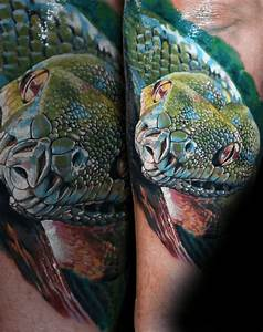 50 3D Snake Tattoo Designs For Men - Reptile Ink Ideas