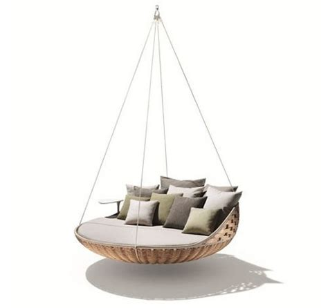 wooden furniture suspended beds swing nest rests dynamic duo of outdoor lounging urbanist
