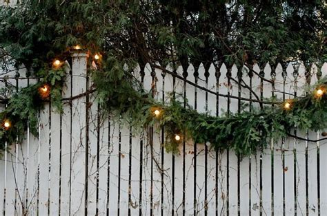 christmas fence decoration lights pictures