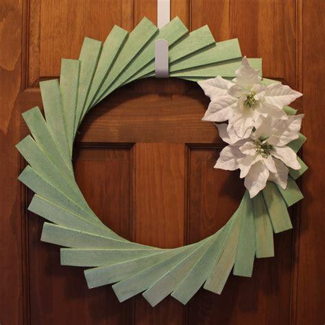 wooden wreath winter style wooden shim wreath stevie storck design co