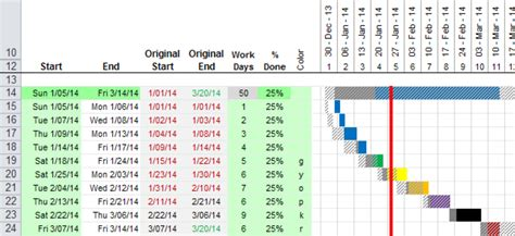excel gantt chart planned  actual stack overflow