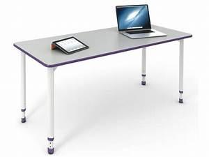 A  U0026 D Adjustable Height Ada Compliant Student Desk 24 U201dx48