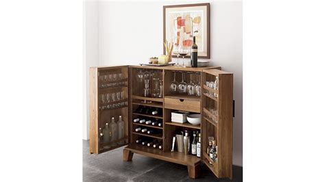 image of liquor storage cabinet marin bar cabinet crate and barrel