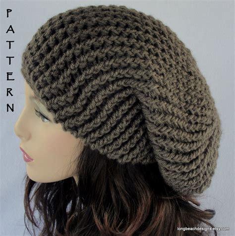 crochet beanie pattern crochet hat pattern slouchy hat pattern by longbeachdesigns