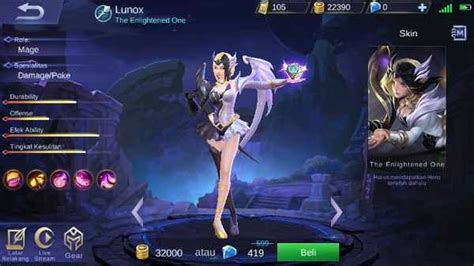 Guide Lunox Mobile Legend, Build, Skill, Ability, Set