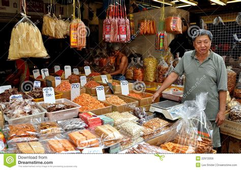 cuisine shop chinatown food shop editorial stock