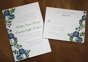 Simple blue and green floral wedding invitations for Minimalist floral wedding invitations