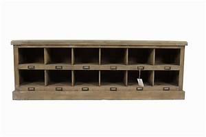 Meuble De Rangement Bas : meuble bas rangement bois 12 rangements ~ Dailycaller-alerts.com Idées de Décoration