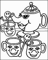 Coloring Tea Pages Colouring Sheets Oregon Ducks Printable Quinn Harley Child Popular Pdf Coloringhome sketch template