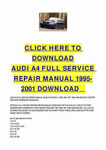 Audi A4 Full Service Repair Manual 1995