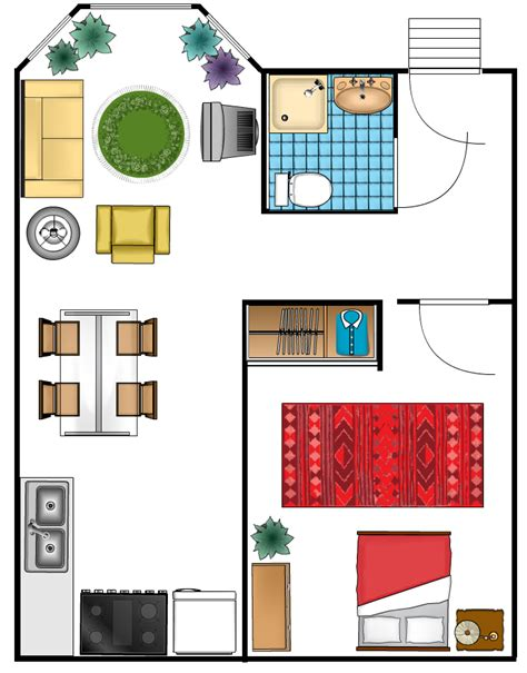 visio building plan stencils