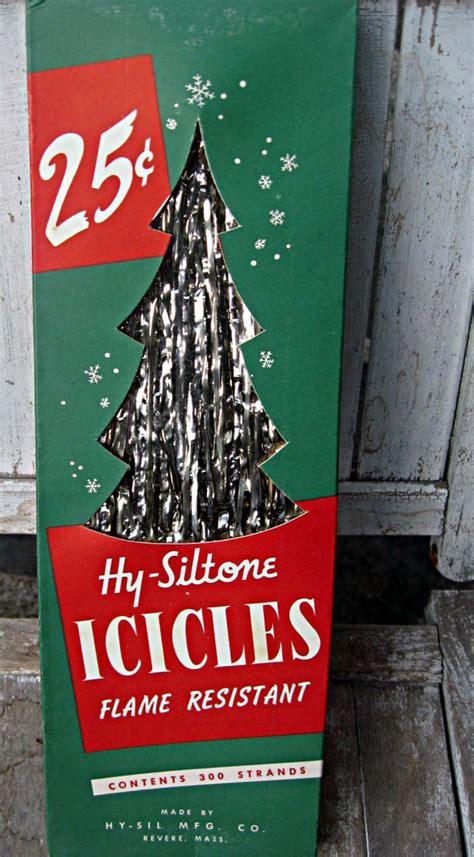 vintage box of christmas xmas tree icicles unused nos