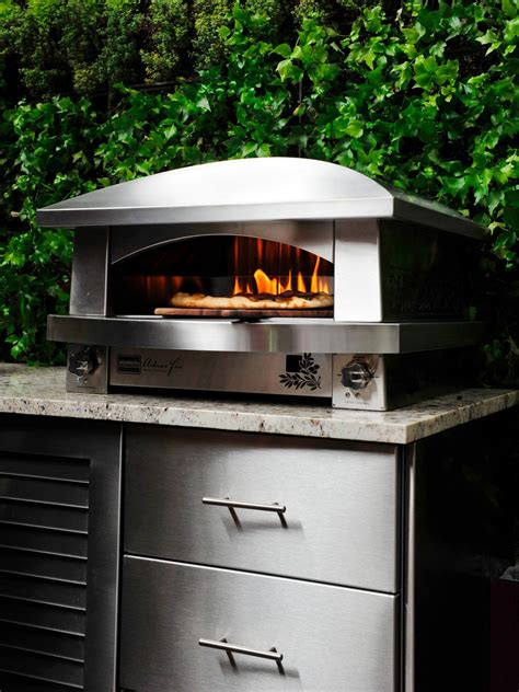 Backyard Pizza Oven by Outdoor Kitchen Appliances Hgtv