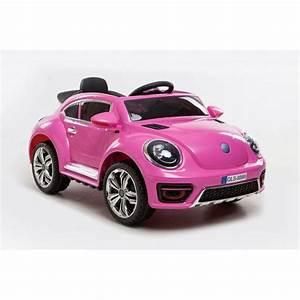 Voiture Electrique Enfant 6 Ans : voiture lectrique new beetle rose voiture 12v pour enfant ~ Melissatoandfro.com Idées de Décoration