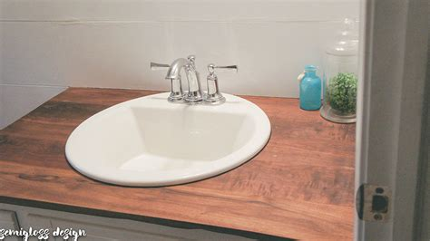 How To Install Bathroom Countertop by Diy Wood Countertops For A Bathroom Semigloss Design