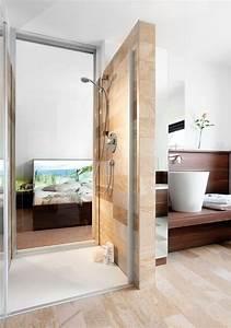 Badezimmergestaltung Ohne Fliesen : die 25 besten ideen zu offene duschen auf pinterest duschnische duschdesigns und badezimmer ~ Sanjose-hotels-ca.com Haus und Dekorationen