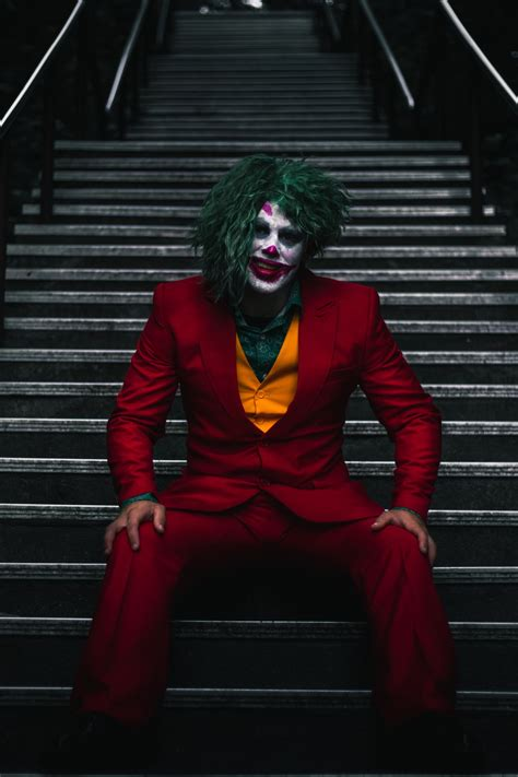 joker  stairs photo  human image  unsplash