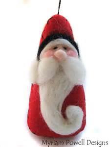 santa ornament christmas ornament needle felted santa