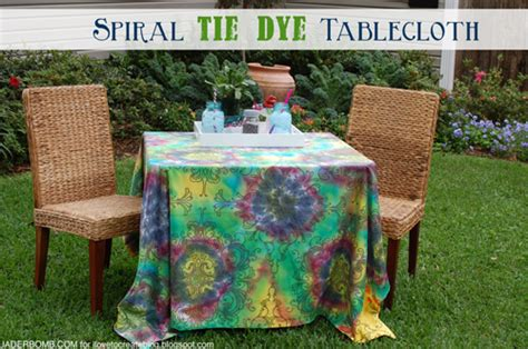 How To Make A Spiral Tie Dye Tablecloth
