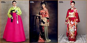 "Korean ""Hanbok"" vs Chinese ""Cheongsam"" vs Japanese ""Kimono ..."