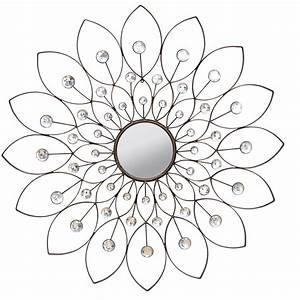 Stratton home decor decorative flower wall mirror