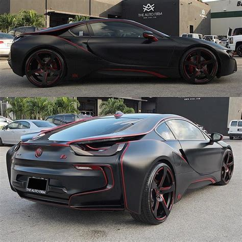 Bmw I8 Black And Red