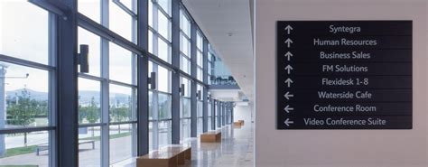 interior wayfinding signage  signs architectural