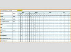 4+ monthly schedule template excel Authorization Letter