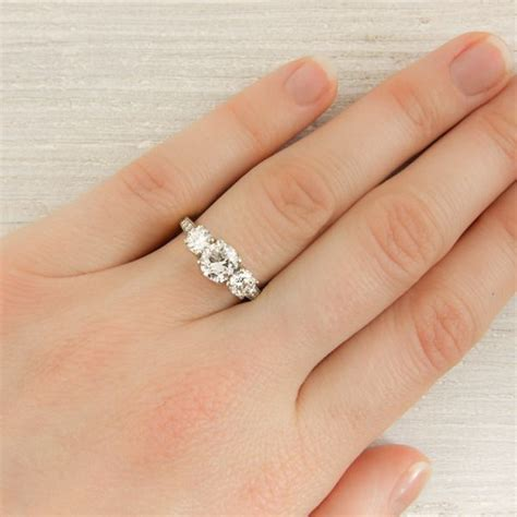 vintage co three engagement ring new