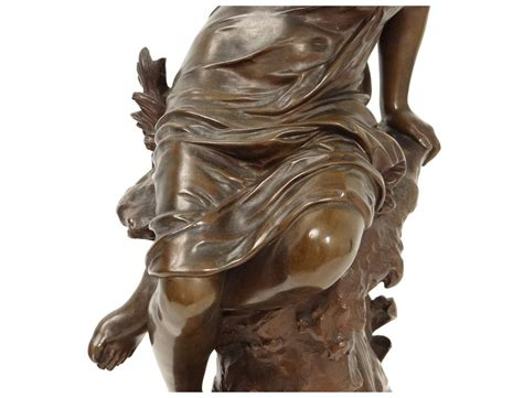 beautiful young woman bronze sculpture  source mathurin