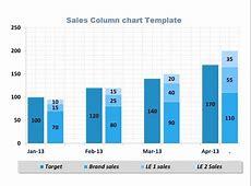 Sales Column Chart Excel Template XLS Microsoft Office