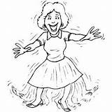 Tap Dancer Woman Coloring Dance Printable Pages Template Freeprintablecoloringpages sketch template