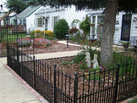 fences for yards wrought iron fence in front yard lowes has this option in