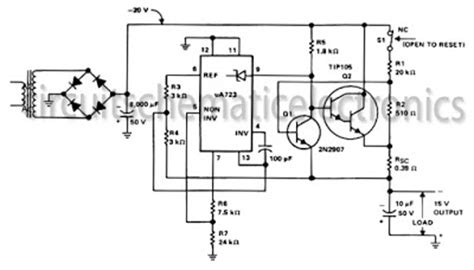 Volt Output Regulated Power Supply Circuit