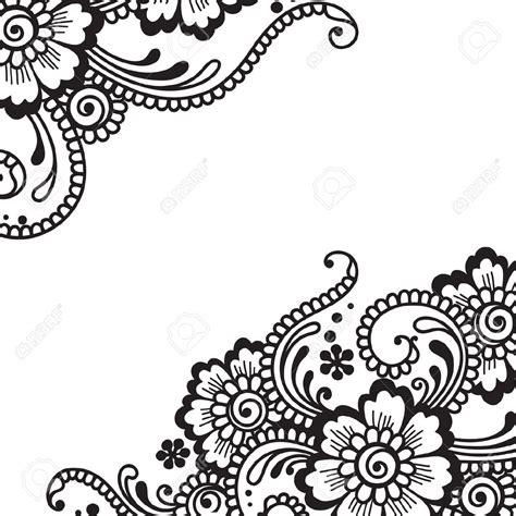 stock vector intermediate henna designs flower