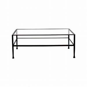 59 off ikea glass coffee table with storage tables With glass and metal rectangular coffee table