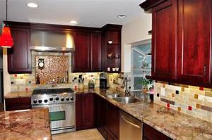 dynasty cherry wood burgundy onyx traditional kitchen With kitchen colors with white cabinets with onyx candle holders