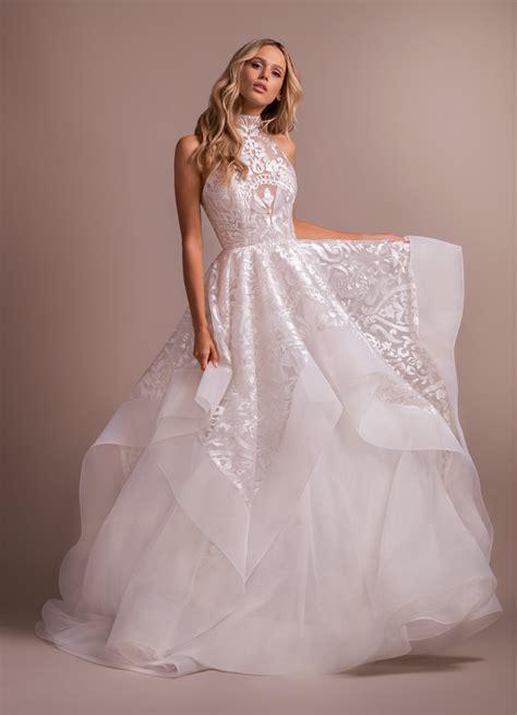 Blush Ball Gown High Neck Wedding Dress Kleinfeld Bridal