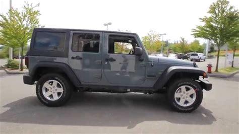 jeep grey 2014 jeep wrangler unlimited sport anvil gray el319959