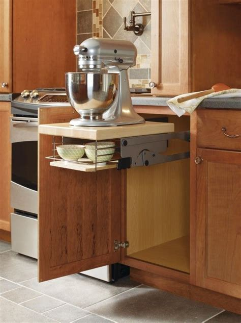 kitchen cabinet lift this mixer cabinet by thomasville cabinetry frees up 2589