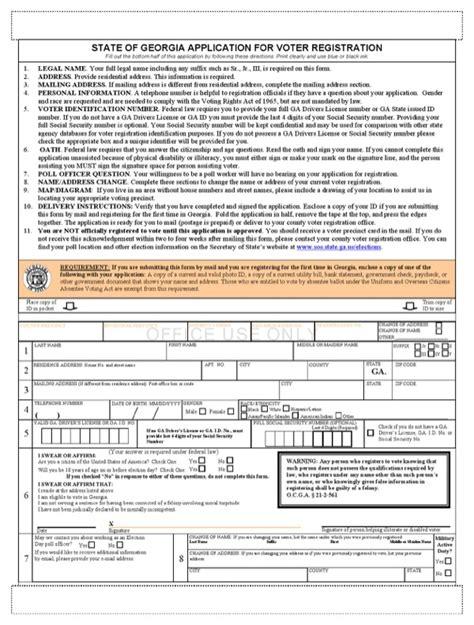 georgia voter registration application