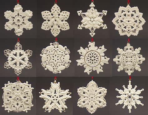 lenox twelve days of christmas snowflake 12 piece ornament