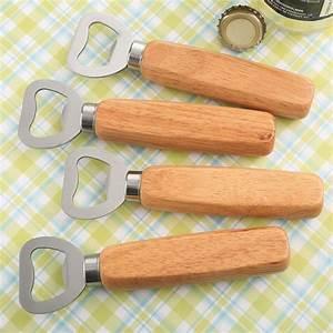 Wood, Handle, Bottle, Opener, With, Solid, Stainless, Steel, Top, Opener